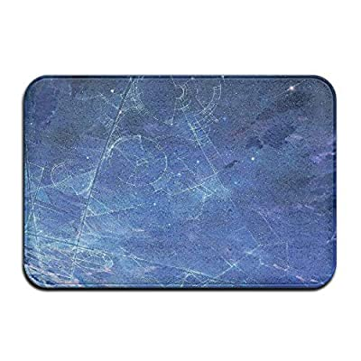 Blue Stars Galaxy Art Home Door Mat Super Absorbent Antiskid Front Floor Mat,Soft Coral Memory Foam Carpet Bathroom Rubber Entrance Rugs for Indoor Outdoor