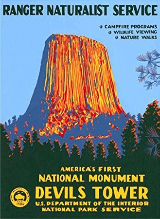 - MAGNET Devils Tower Poster Art Magnetic Magnet(rv national park hike) Size: 3 x 4 inch