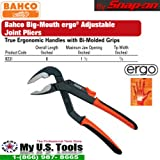 Bahco 8231 Adjustable Joint Pliers, 8-Inch Big Mouth