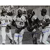 St. Louis Cardinals 16x20 Photograph Signed (Bob Gibson Tim McCarver Mike Shannon Orlando Cepeda) - Certified Authentic Autograph