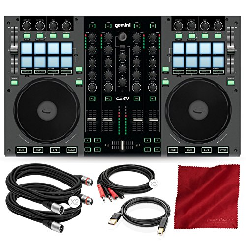 (G4V 4- Channel Virtual DJ Controller with Cables and Basic Bundle)