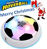 Eternal E1 Air Power Soccer Disk Training Football with Foam Bumpers and Light Up LED Lights Girls Boys Sport Kids Toys Hover Ball Game for Indoor Outdoor