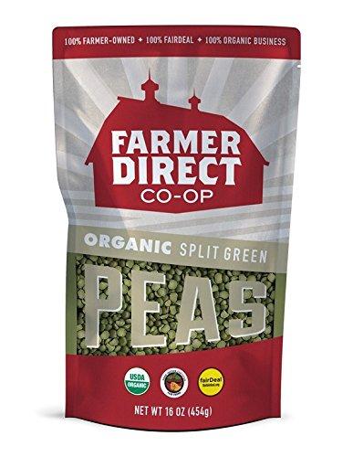 FARMER DIRECT CO-OP, PEAS, OG2, SPLIT GREEN - Pack of 12 by Frmdir