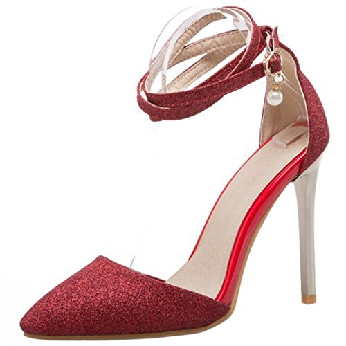 39 Shoes Women Fashion Red Coolcept Party Stiletto Sandals q6fnwOC