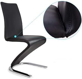 WAZY Sedia da Pranzo in Metallo Sedia con braccioli Sedia da Ufficio per Ufficio (Colore : Bianca)