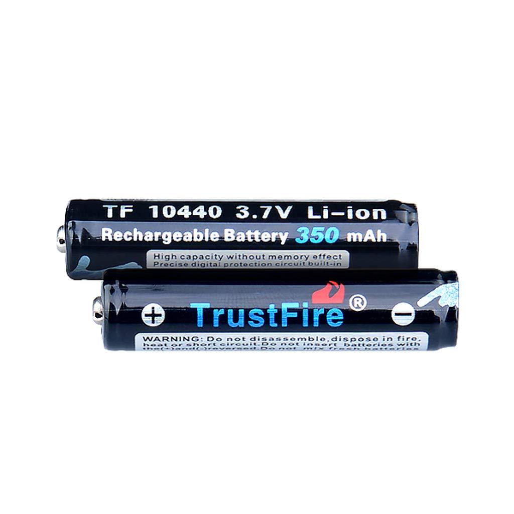gszfsm001 2Pcs AAA 10440 3.7V 350mAh Li-ion Rechargeable Battery For Flashlight Headlight