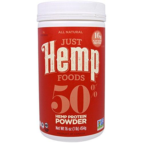 Just Hemp Foods, 50% Hemp Protein Powder, 16 oz (454 g) - 3PC by Just Hemp Foods