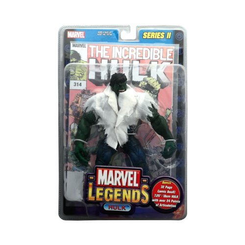 Marvel Legends Series 2 the Incredible Hulk with White T-shirt Action Figure By Toy Biz