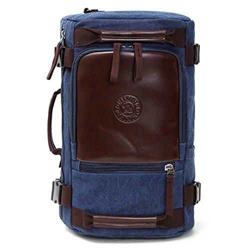 Fastar Retro Canvas Rucksack Reisen Lässige Umhängetasche Handtasche Wandern Camping Rucksack für Sport, Fitnessstudio, Wandern, Reisen, Camping coffee