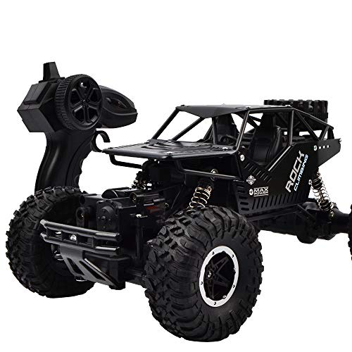 (Kanzd 1:16 Remote Control Alloy 4WD Off-Road Monster Buggy Crawler Off Road Car Toy (Black))