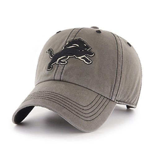 NFL Detroit Lions Deck Hand OTS Challenger Adjustable Hat, Charcoal, One Size