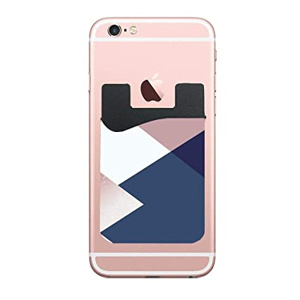 finest selection 64b23 e2af5 Amazon.com: Cellcardphone Geometrics - Blush Indigo Rose Gold Custom ...