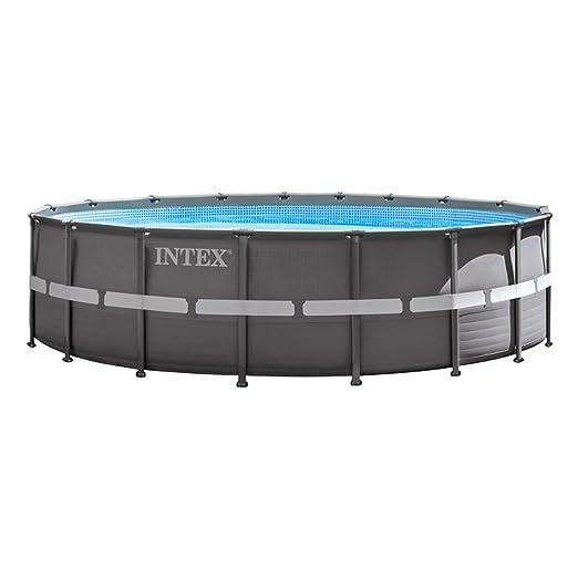 Intex Ultra Frame Piscina Desmontable, 26423 litros, Gris ...