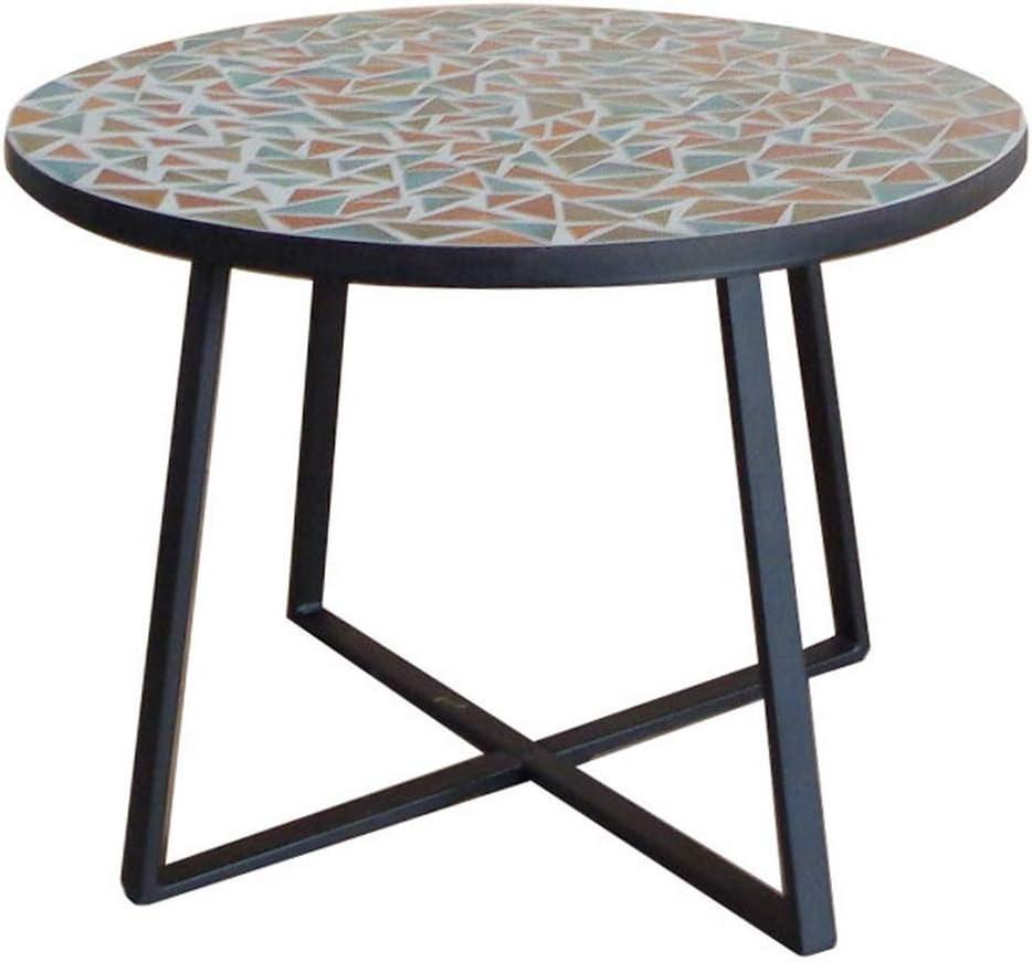 Mesa Auxiliar Mosaico para Exterior de cerámica y Hierro Multicolor, de ø 60x46 cm - LOLAhome