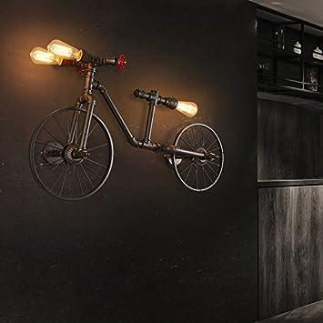 Vinteen Personalidad Bicicleta Tubería de Agua Lámpara de Pared ...