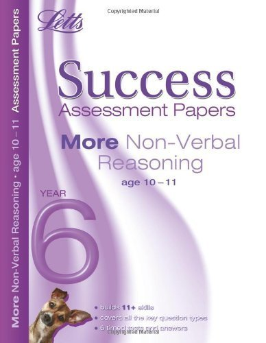 Download More Non-Verbal Reasoning Age 10-11: Assessment Papers (Letts 11+ Success) by Francis, Peter (2011) Paperback pdf