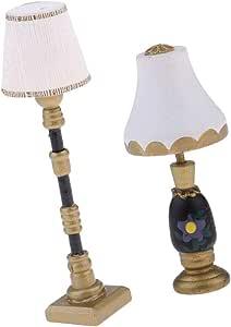 1:12 Dollhouse Miniature Operated W// Battery Ball Shape Table Lamp Light