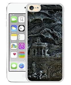 iPod Touch 6 Case ,the elder scrolls skyrim bas magician dragon fantasy White iPod Touch 6 Cover Unqiue And Durable Custom Designed Phone Case