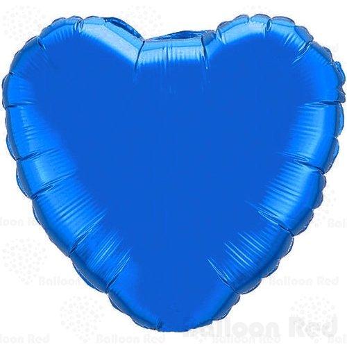 18 Orange Roses (18 Inch Helium Foil Mylar Balloons (Premium Quality), Pack of 6, Heart - Blue)