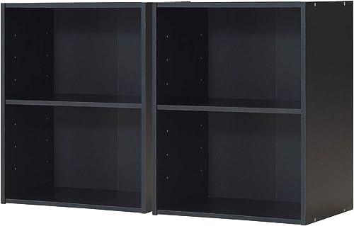 Giantex Bookshelf and Bookcase 2-Layer Storage Shelf