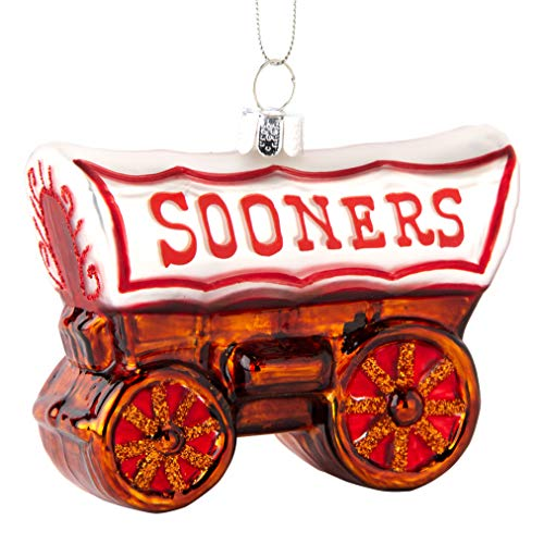 Topperscot Oklahoma Sooners Official NCAA Mascot Holiday Christmas Blown Glass Ornament 864426 ()
