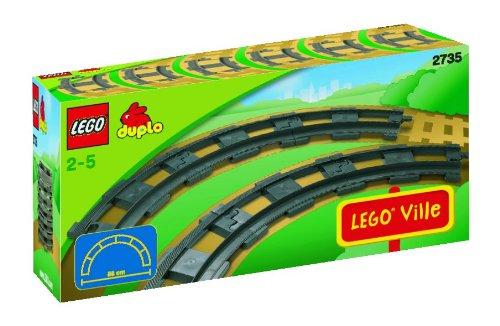 Lego Duplo Eisenbahn 2735 - 6 gebogene Duplo Schienen