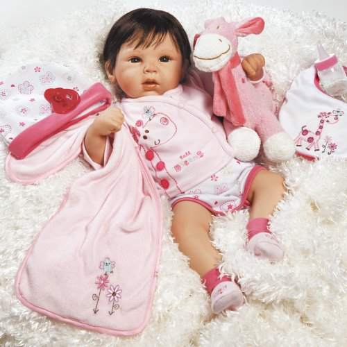Paradise Galleries Lifelike Realistic Baby Doll, Tall Dreams Gift Set Ensemble, 19-inch Weighted Baby, for Ages 3+