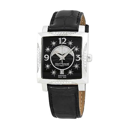 Reloj para Mujer con Esfera Negra y Diamante de San Honor Orsay 756018 1N8DN: Amazon.es: Relojes