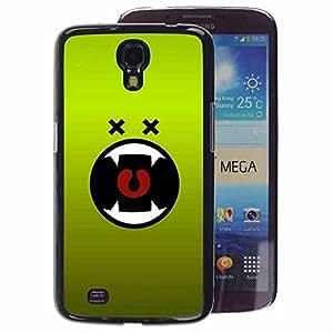 A-type Arte & diseño plástico duro Fundas Cover Cubre Hard Case Cover para Samsung Galaxy Mega 6.3 (Green Monster Cartoon Mouth Vampire)