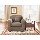 Sure Fit Stretch Pique Two Piece Chair Slipcover