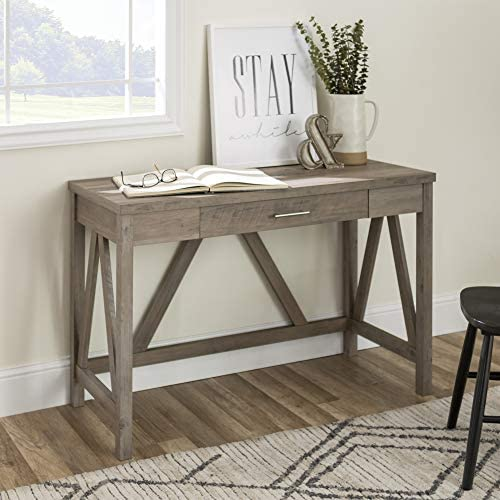 Walker Edison Furniture Rustic Farmhouse Wood Computer Writing Desk Office