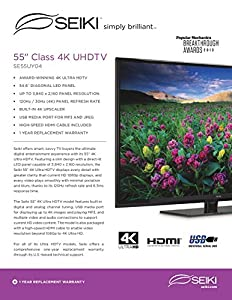 Seiki SE55UY04 55-Inch 4K Ultra HD 120Hz LED TV : Lots of