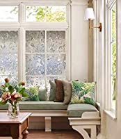 LEMON CLOUD No Glue Static Decorative Frosted Privacy Window Films Non-Adhesive Heat Control Anti UV(35.4in. by 157.4in) from lemon cloud