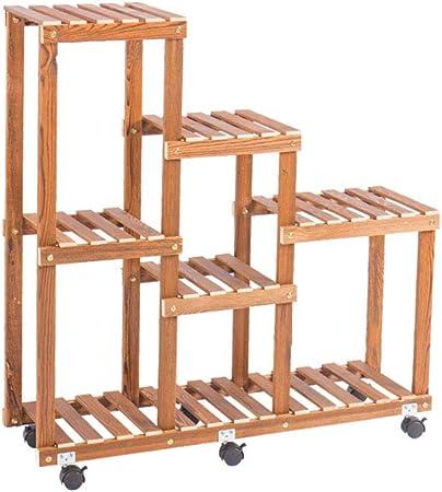 Soporte para flores / Estante para plantas / Estante Escalera de madera Exhibidor para estantes Estantes para macetas Almacenamiento Flor / Estante para interiores y exteriores Tamaño 90x90x25 cm: Amazon.es: Hogar