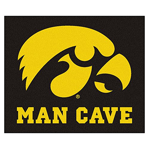 Iowa Tailgater Rug - FANMATS 14646 University of Iowa Nylon Universal Man Cave Tailgater Rug