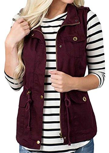 ミリメートル発音無意味maweisong 女子軽量ノースリーブの伸縮性のある締め紐ジャケット?ベスト