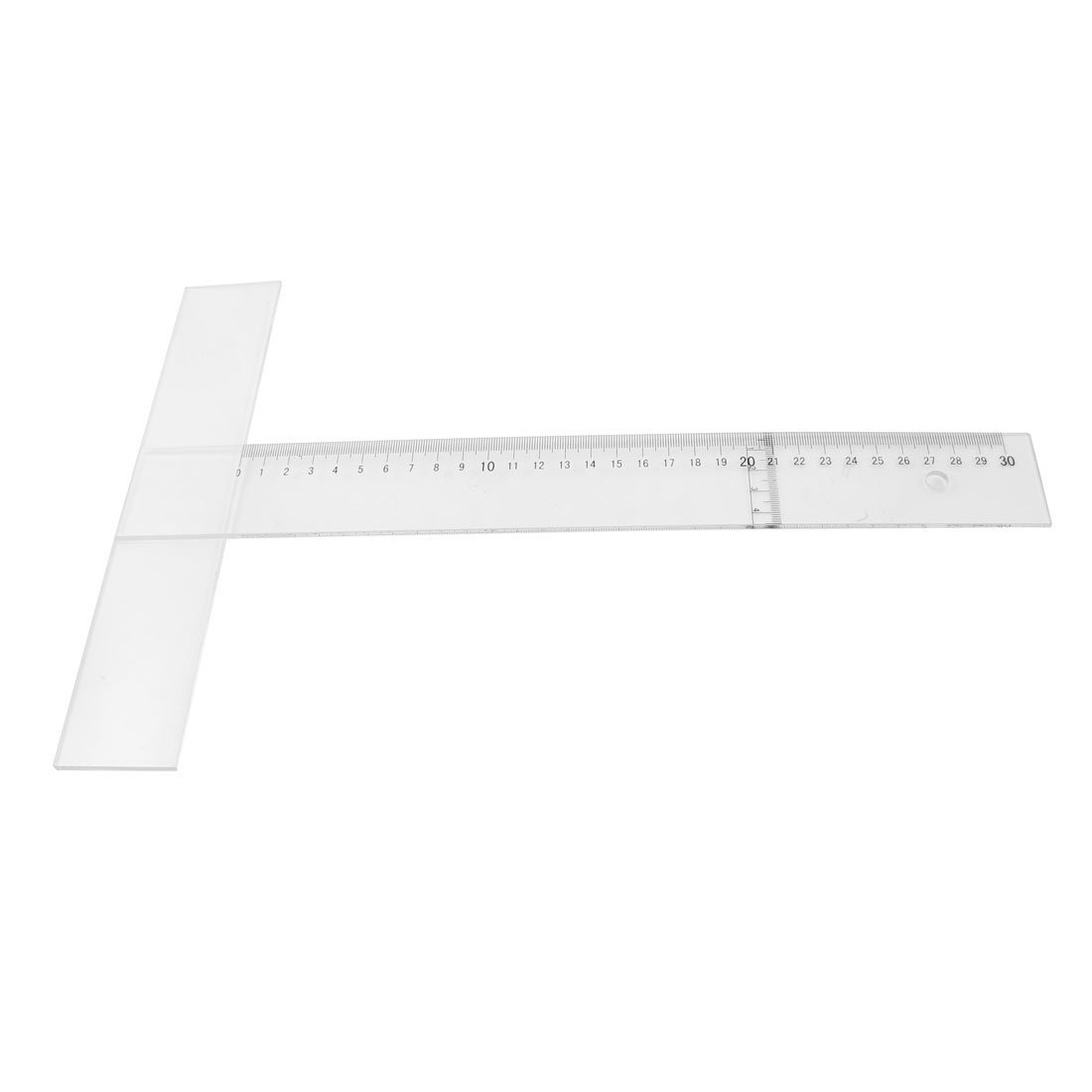 Uxcell Arabic T-Square Ruler, 30cm Measurement, Clear Black for Students