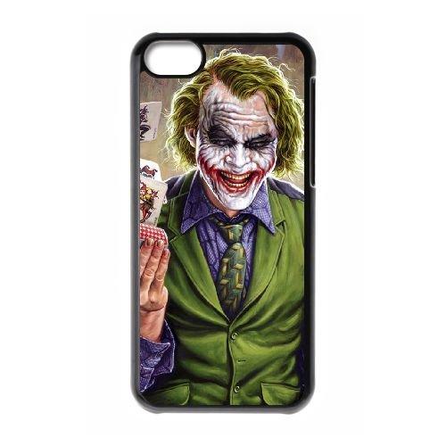 Batman Joker coque iPhone 5C Housse téléphone Noir de couverture de cas coque EBDOBCKCO09274