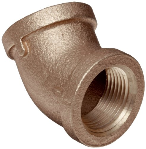 Brass Pipe Fitting, Class 125, 45 Degree Elbow, 1/4