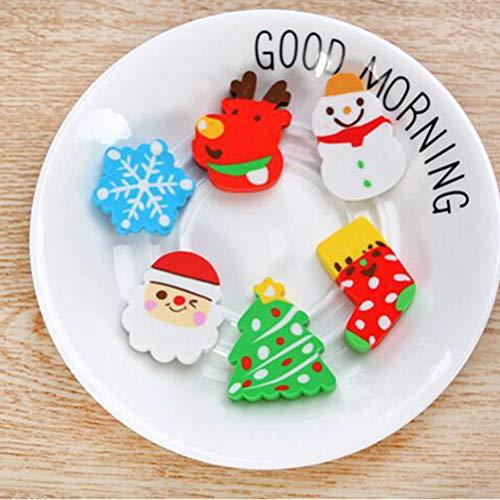STOBOK 36pcs Christmas erasers for Holiday Kids Students Gift Basic School Supplies (Random Pattern) by STOBOK (Image #5)