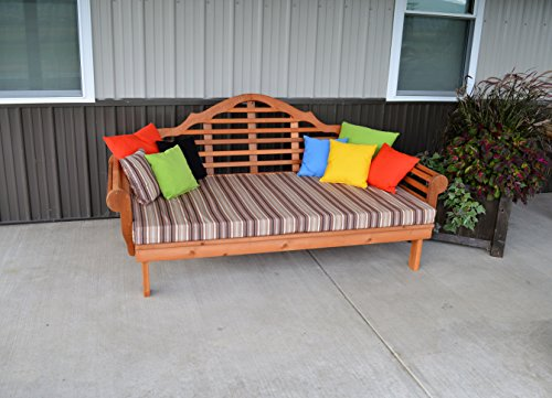 ASPEN TREE INTERIORS Best DAYBED for Home Furniture & Patio Seating, 3 Person Bench, Cedar Lutyens Style Outdoor Day Bed, Unique Outside Decor, Amish Made in US, 75