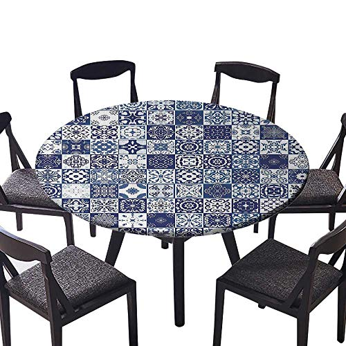 (Easy-Care Cloth Tablecloth Architectural Elements Historic Artwork Mandala Damask for Daily use, Wedding, Restaurant 50