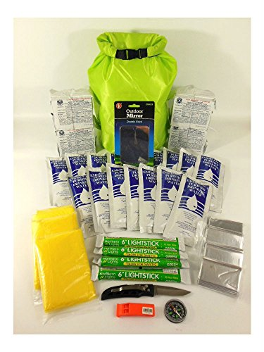 (BOAT EMERGENCY SURVIVAL KIT 4 PERSON 2 DAYS, DITCH BAG, FAMILY EVACUATION.)