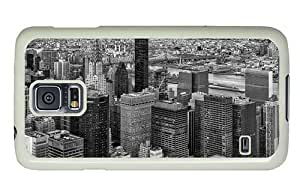 Hipster Samsung Galaxy S5 Case make cases new york monochrome PC White for Samsung S5 by lolosakes