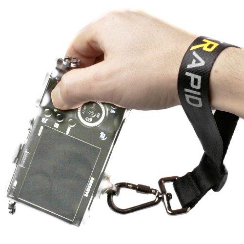 Blackrapid Wrist Strap Handschlaufe (Handgelenkschlaufe, Handgelenk-Trageschlaufe) für DSLRs, spiegellose Systemkameras und Kompaktkameras