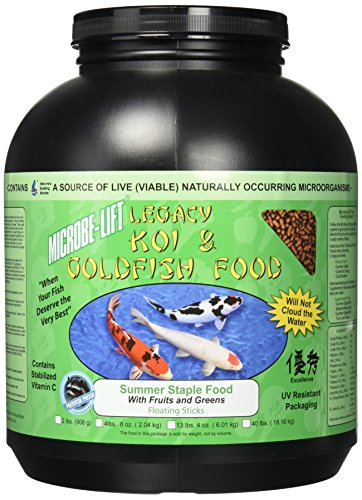 (Eco Labs MLLFGLG Microbe Lift Fruits and Greens Fish Food, 4lbs)