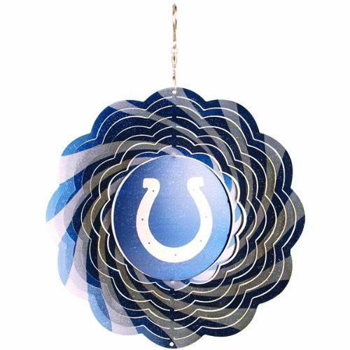 Team Sports America Indianapolis Colts NFL 10 in Yard/Garden Hanging Geo Wind ()