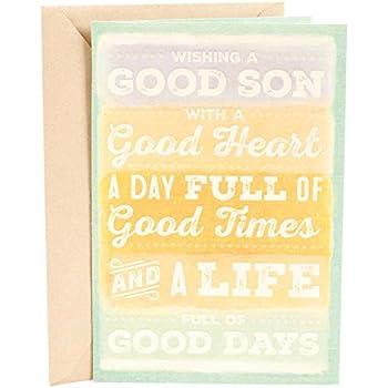 Hallmark Mahogany Birthday Greeting Card For Son Good