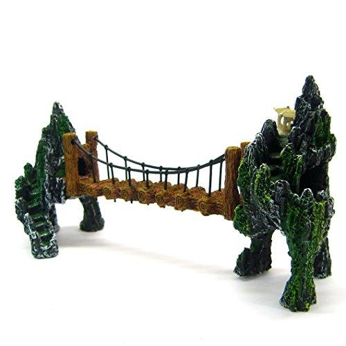 """Mountain Drawbridge Aquarium Ornament 9.8"""" - Bridge Rock ..."""