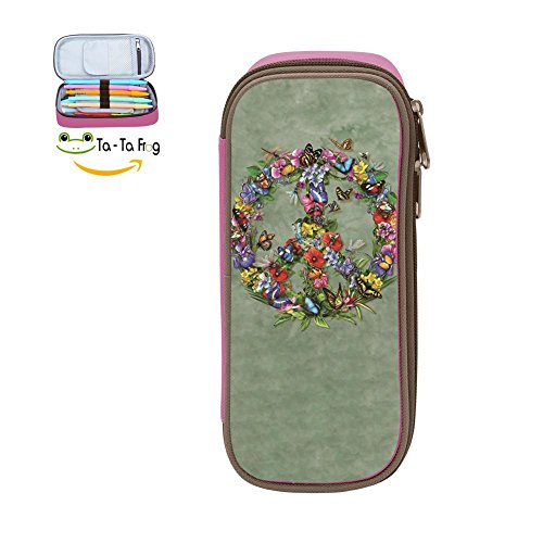 (Big Capacity Canvas Mobile Phone Box Multi-Colored for Child,Print Butter Dragon Peace,Pink)